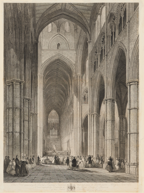 This Print representing the Grand Musical Festival that took place in Westminster Abbey in June 1834, engraved by William Woolnoth (1770-1837
