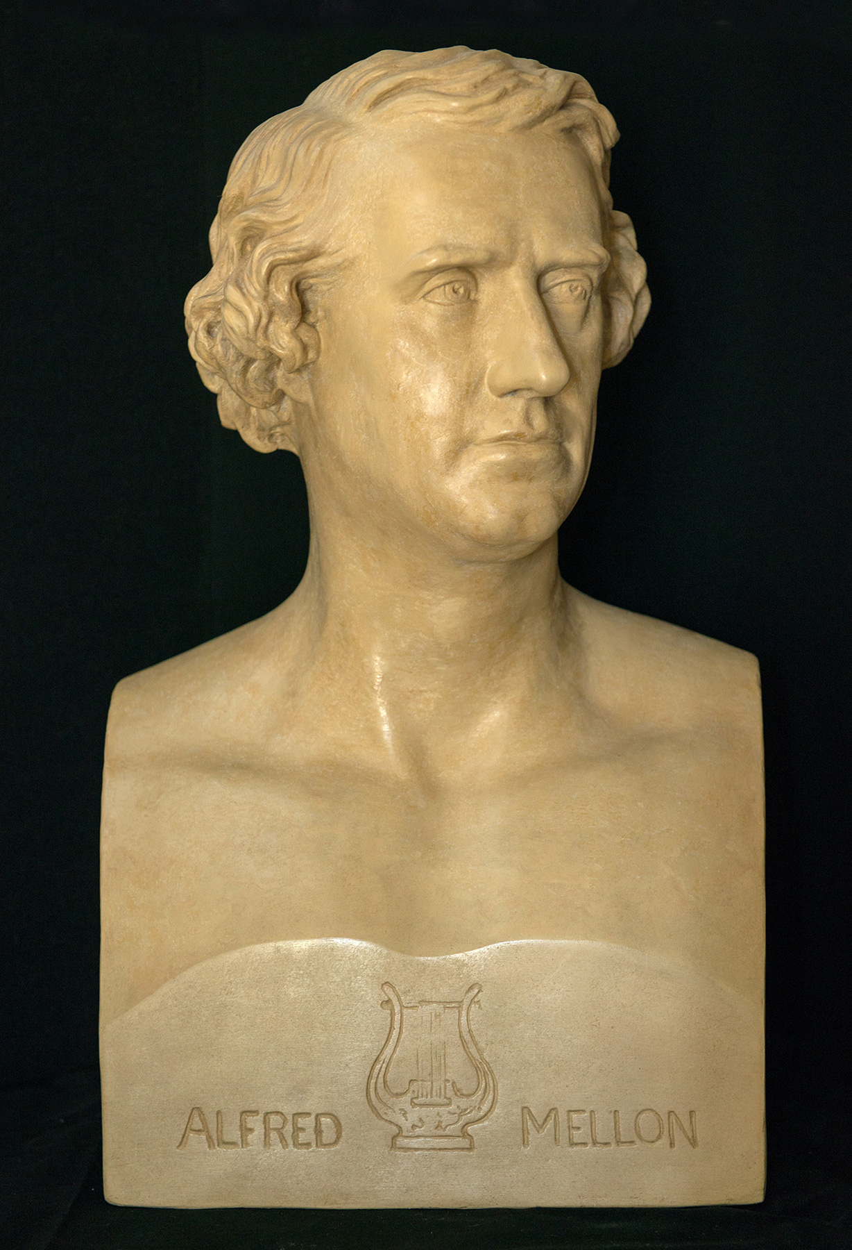 Plaster bust (1862) of Alfred Mellon by George James Somerton Miller (d.1876).